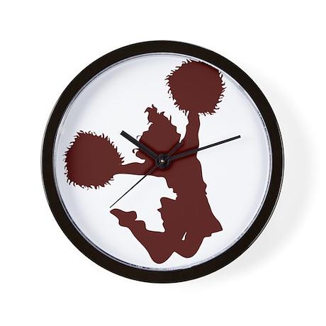 CHEER *10* {crimson} Wall Clock