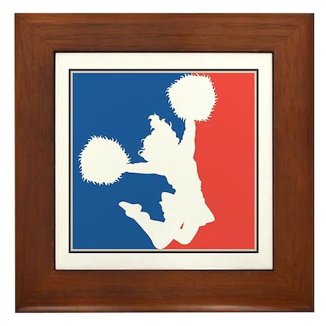 CHEER *11* {red/white/blue} Framed Tile
