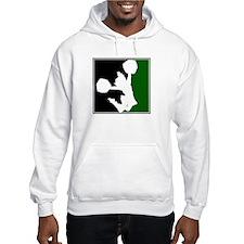 CHEER *11* {green/black/white Hoodie