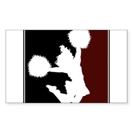 CHEER *11* {crimson/black/whi Sticker (Rectangle)