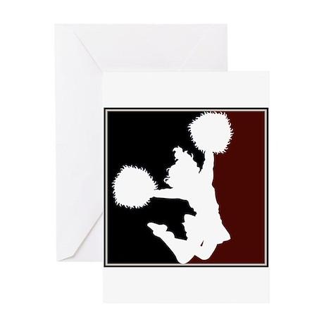 CHEER *11* {crimson/black/whi Greeting Card