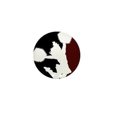 CHEER *11* {crimson/black/whi Mini Button (100 pac