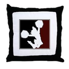 CHEER *11* {crimson/black/whi Throw Pillow
