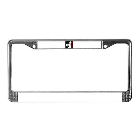 CHEER *11* {crimson/black/whi License Plate Frame