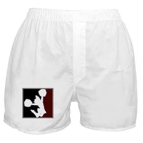 CHEER *11* {crimson/black/whi Boxer Shorts