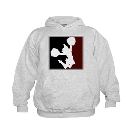 CHEER *11* {crimson/black/whi Kids Hoodie