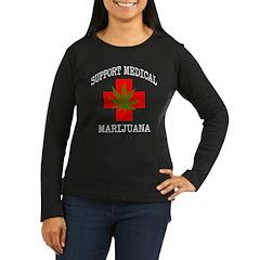Women's Long Sleeve Brown T-Shirt