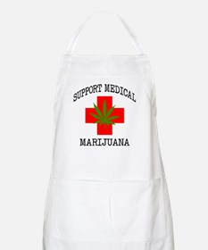 Support Medical Marijuana Apron