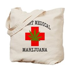 Support Medical Marijuana Tote Bag