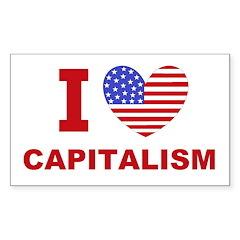 I Love Capitalism Sticker (Rectangle)