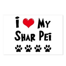 I Love My Shar Pei Postcards (Package of 8)