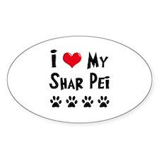I Love My Shar Pei Decal