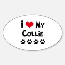 I Love My Collie Decal