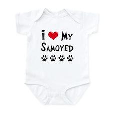 I Love My Samoyed Infant Bodysuit
