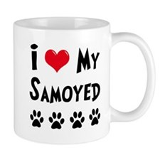 I Love My Samoyed Coffee Mug
