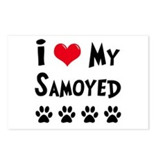 I Love My Samoyed Postcards (Package of 8)