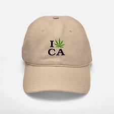 I Love Cannabis Marijuana California Baseball Baseball Cap