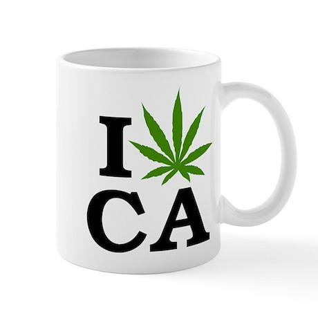 I Love Cannabis Marijuana California Mug