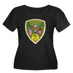 Hancock County Sheriff Women's Plus Size Scoop Nec