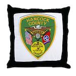 Hancock County Sheriff Throw Pillow