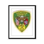 Hancock County Sheriff Framed Panel Print