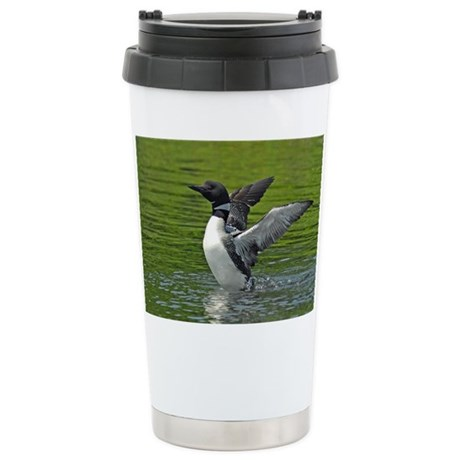 Loon stretching Stainless Steel Travel Mug