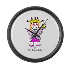 I have Fairy Princessitude! Large Wall Clock