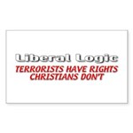 Liberal Logic Sticker (Rectangle 50 pk)