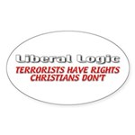 Liberal Logic Sticker (Oval 10 pk)
