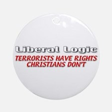 Liberal Logic Ornament (Round)