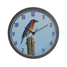 Bluebird Family Wall Clock