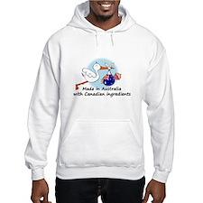 Stork Baby Australia Canada Hoodie Sweatshirt