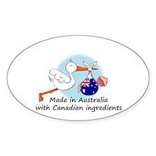 Stork Baby Australia Canada Decal