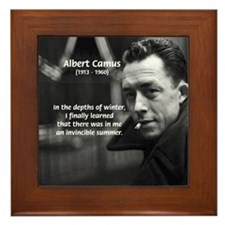 Albert Camus Motivational Framed Tile