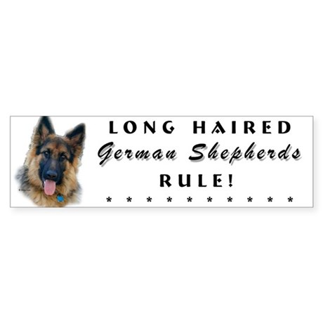 Long Haired GSD Bumper Sticker