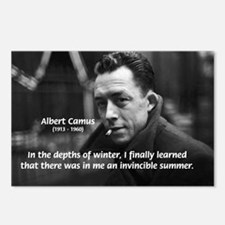 Albert Camus Motivational Postcards (Package of 8)