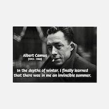 Albert Camus Motivational Rectangle Magnet