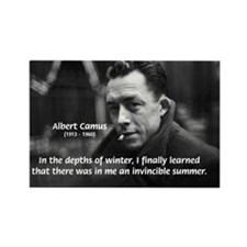 Albert Camus Motivational Rectangle Magnet (10 pac