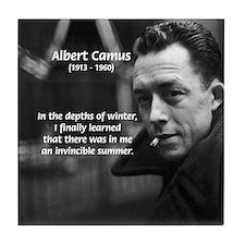 Albert Camus Motivational Tile Coaster
