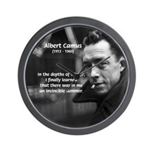Albert Camus Motivational Wall Clock