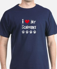 I Love My Schipperke T-Shirt