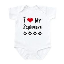 I Love My Schipperke Infant Bodysuit