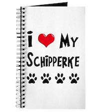 I Love My Schipperke Journal