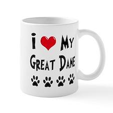 I Love My Great Dane Mug