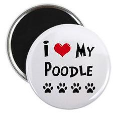 I Love My Poodle Magnet