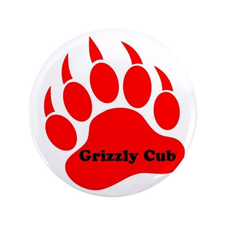 """Grizzly Cub 3.5"""" Button"""