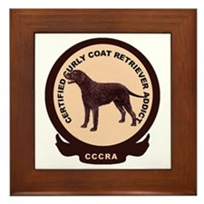 Curly coat addict Framed Tile