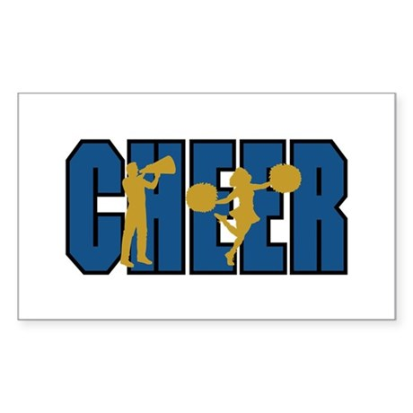 CHEER *15* {blue/gold} Sticker (Rectangle)