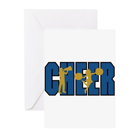 CHEER *15* {blue/gold} Greeting Cards (Pk of 20)