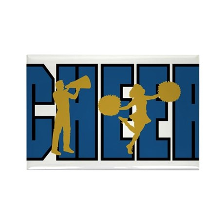 CHEER *15* {blue/gold} Rectangle Magnet